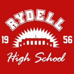 """Rydell High School T-shirt. Inspired by the 1978 movie """"Grease"""". Get this design from Spreadshirt here Get this design from Shirtcity here Get this design from TeePublic here (worn look) Get this design from RedBubble here (worn look) Grease Themed Parties, Grease Party, Grease Musical, Grease Live, Grease Is The Word, Danny Zuko, Boogie Woogie, Character Aesthetic, Tv"""