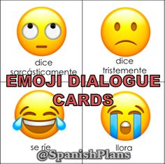 Emoji Dialogue Cards: Students read a quote in a particular tone.