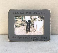 Flowers in December Design Studio Mom Mother of bride thank you parents gift picture frame personalized rustic photo frame