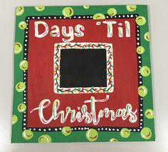 Customized Countdown to Christmas