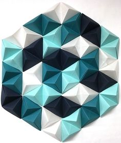 modular origami to put on your wall.  Great idea for a conversation piece in the kids room