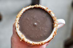 Crockpot Coconut Hot Chocolate I howsweeteats.com