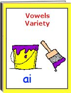 "The eWorkbook titled ""Vowel Variety"" consists of 43 pages. The worksheets include a variety of vowels (aw, ai,ur, ee, oa, ay, hard and soft c, and more) worksheets include various exercises including: circle the correct vowel, matching pictures, name the picture, and sentences."