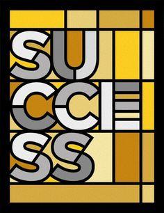 SUCCESS - STAINED GLASS » Tipografia - Urban Arts (papel matte - 36x47,5 - moldura preta lisa) - R$ 228