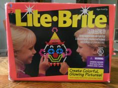 1980s toys | Lite Brite 80s Toy Electronic 1980s Hasbro Light by kerrilendo