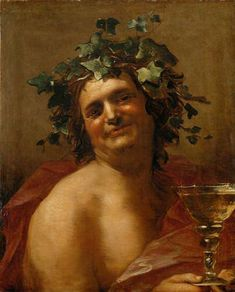 Bacchus by van Dalen (Illustration) - Ancient History Encyclopedia Greek Mythology Art, Mythology Paintings, Greek Paintings, Funny Paintings, Kunsthistorisches Museum Wien, Ffa, Rome Antique, History Encyclopedia, Greek Gods And Goddesses