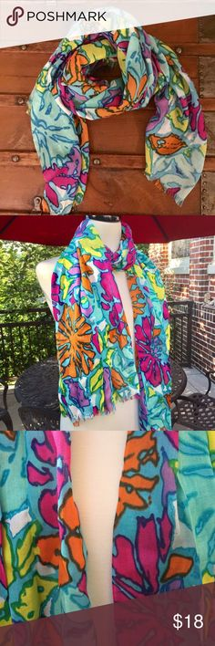 NINE WEST Scarf Beautiful/colorful scarf. I have another one listed exactly like this one, with different colors, in my closet. Nine West Accessories Scarves & Wraps