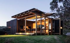 """wallpapermag: """"Herbst Architects' sensitive retreat invites New Zealand's great outdoors inside """""""