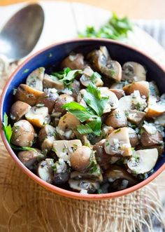 For this low-maintenance marinated mushroom appetizer, we packed in tons of flavor, but kept the ingredient list nice and short. The best part about serving marinated mushrooms as a holiday appetizer is that it can be made a week in advance and tucked away in the back of your fridge until you are ready to serve.