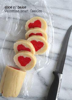 Slice n' Bake Valentine Heart Cookies | Lauren's Latest