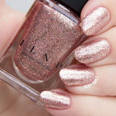 Juliette Rose Gold Holographic Nail Polish by ILoveNP on Etsy