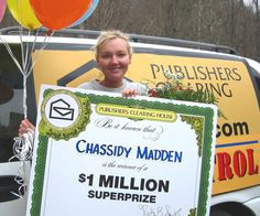 A F PUBLISHERS CLEARING HOUSE'S WINNER OF $1 MILLION PUBLISHERS CLEARING HOUSE'S WINNER OF $1 MILLION  Chassidy Madden of Kentucky is Publishers Clearing House's second winner of $1 million from pch.com in three months. (PRNewsFoto/PUBLISHERS CLEARING HOUSE)[RV]  PORT WASHINGTON, NY UNITED STATES  11/28/2005