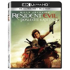 Blu-ray Resident Evil: Poslední kapitola, Resident Evil: The Final Chapter, UHD + BD, CZ dabing Milla Jovovich, Resident Evil, Blues, Movie Posters, Movies, Films, Film, Movie, Movie Quotes