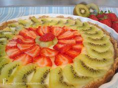 Tarta de queso Philadelphia. Muy fácil y rápida de hacer en el microondas. Queda genial decorada con frutas por encima.