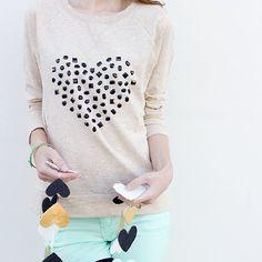 Jazz up a sweatshirt for Valentine's Day!