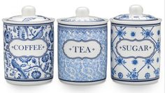Royal Blue Set of 3 Canisters $75 (AUD) | FREE Delivery