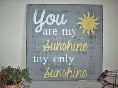 You Are My Sunshine Sign Rustic Handpainted Large Shabby Chic Sign With Sun