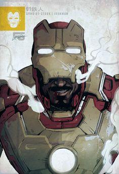 Awesome Iron Man 3 Drawing Focusing On Robert Downey Jrs Tony Stark/Iron Man In His Mark XLVII Armor