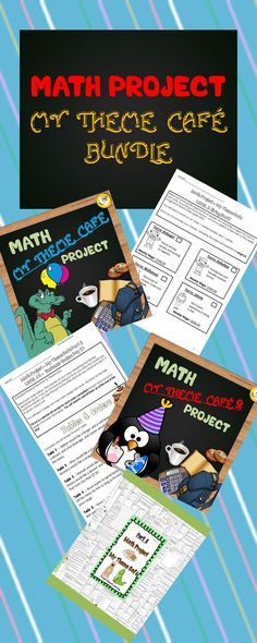 My Theme Café, will engage and excite students when doing math! Math Project: My Theme Café is a level progression project-based learning resource that incorporates a range of math skills, as well as literacy, creative and critical thinking skills embedded throughout. Students will be required to make decisions and apply a variety of math skills to progress through each level. There are a total of 60 levels to work through (split into two parts) in this bundle packet! NO PREP TOO!