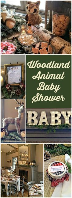 This gorgeous woodland animal baby shower has a hot cocoa bar! See more party ideas at CatchMyParty.com!
