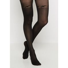 Black Bat Illusion Tights ❤ liked on Polyvore featuring intimates, hosiery and tights