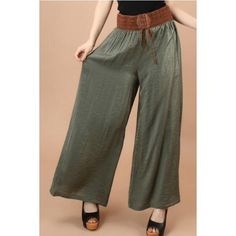 Boho Lace Up Wide Leg Pants Boho Lace Up Wide Leg PantsSmallPease see chart above for material and measurementsI'm offering 30% bundles. Also, you can use the red dot 4/$20 items to make my discount of 30% kick in  ALSO AVAILABLE IN BROWN Posh Garden Pants Wide Leg