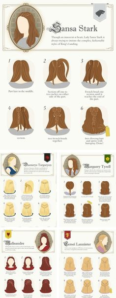 Learn how to braid your hair like the ladies in Game of Thrones.