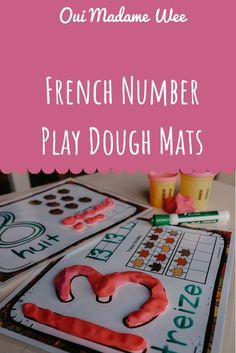 Fun play dough mats for Fall! Use these with your little ones to build number sense!