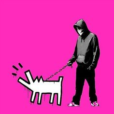 Banksy, CHOOSE YOUR WEAPON PINK on ArtStack #banksy #art