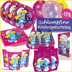 Schlumpfine - Partypaket Kindergeburtstag