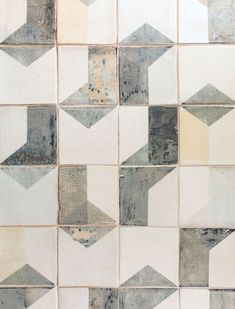 'After Lowry' hand-painted tiles by Smink Things. Check out our collection for more inspiration! Floor Patterns, Tile Patterns, Textures Patterns, Deco Design, Tile Design, Pattern Design, Tiles Texture, Stone Tiles, Wall Tiles