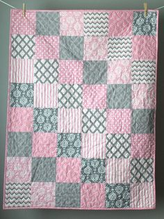 322952e411 Image result for pink baby quilt patterns Neutral Quilt