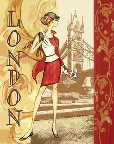Danielle Acerra / RB1838  Fashion Traveler III (London)  14x11