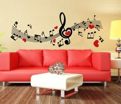00788 Wall Stickers Sticker Wall Paper Adesivi Murali Flying Notes by Adesivimurali on Etsy https://www.etsy.com/listing/198170182/00788-wall-stickers-sticker-wall-paper