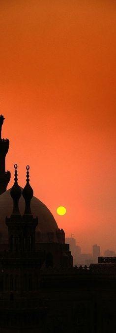 Mosques at sunset. #Egypt المساجد في مصر وقت الغروب ~~~