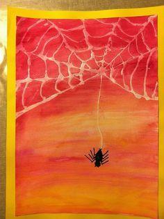 Onderwijs en zo voort ........: 0670. Spinnenweb schilderen