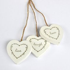 Wooden Heart Hanging Sign Live Love Laugh Shabby Chic RJB Stone http://www.amazon.co.uk/dp/B00CJCY5HQ/ref=cm_sw_r_pi_dp_YsY9wb0J6Q1DC
