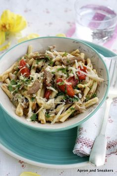 Pasta with Porcini Mushrooms & Datterini Tomatoes with Truffle Oil