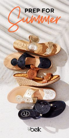 Every wardrobe needs a pair of preppy sandals for spring and summer. These pretty Jack Rogers® sandals will go with everything in your closet, from your favorite pair of white jeans to a cute sundress. The perfect resort-ready shoe, it's a must-have for all of your summer getaways. Shop Jack Rogers® in store or online at Belk.com.