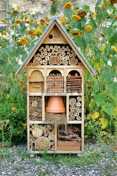 a garden home for beneficial insects! Craftsman Built Insect Hotel Decorative Wood House by Olivier Le Queinec, via Dreamstime a garden home for beneficial insects! Craftsman Built Insect Hotel Decorative Wood House by Olivier Le Queinec, via Dreamstime Garden Bugs, Garden Art, Garden Design, Home And Garden, Roses Garden, Diy Gardening, Organic Gardening, Vegetable Gardening, Bug Hotel