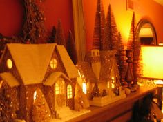 Nice tall skinny trees for backdrop of Christmas village.  Black-eyed Susan