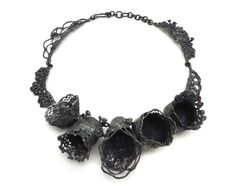 Nora Rochel Necklace: Untitled Oxidized sterling silver 20x2.5x1.5 inches