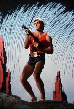 Séance photo pour le film Flash Gordon produit par De Laurentiis