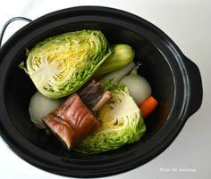 Caldo de jamón a fuego lento en Crock Pot Slow Cooker Recipes, Crockpot Recipes, Recetas Crock Pot, Multicooker, Slow Food, Cabbage, Vegetables, Cooking, Lidl