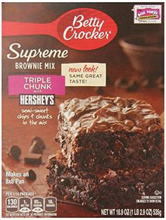 Betty Crocker Premium Brownie Mix Triple Chunk 189Ounce Pack of 6  * Details can be found by clicking on the image.(This is an Amazon affiliate link and I receive a commission for the sales)