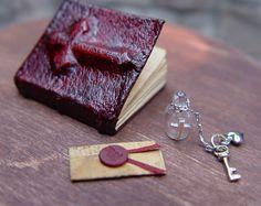 Leather Bound Miniature Secret Vampire Book. $34.00, via Etsy.
