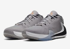 """With an introduction coming in early July, Giannis Antetokounmpo's Nike Zoom Freak 1 is ready for some NBA regular season action. On his quest to reach the NBA Finals while defending his league MVP Award, the """"Greek Freak"""" has this new Atmosphere Grey edition at his disposal during the early weeks of the 2019-2020 campaign.#nikezoom"""