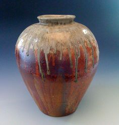 Red shino jar. Lisa Hammond.