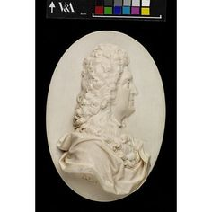 This ivory medallion in relief, representing Charles Marbury (dates unknown), was made . 1700-1720 in Britain.  David Le Marchand (1674-1726) was famed for his ivory carvings, particularly his portraits. He was a native of Dieppe, France, and came from a Huguenot, or Protestant, family. With the Revocation of the Edict of Nantes in 1685, and the consequent persecution of non-Catholics, he had to flee France