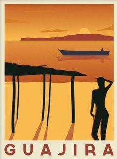 Art Deco Posters, Vintage Posters, Poster Prints, Art Prints, Tourism Poster, Travel Posters, Caribbean Art, South America, Travel Destinations